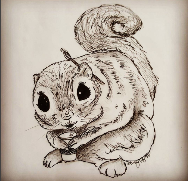 Secret Squirrel Art